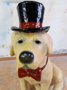 IMG 20190905 181617 225x300 - Perro Labrador. Realizado en poliespan y fibra de vidrio.